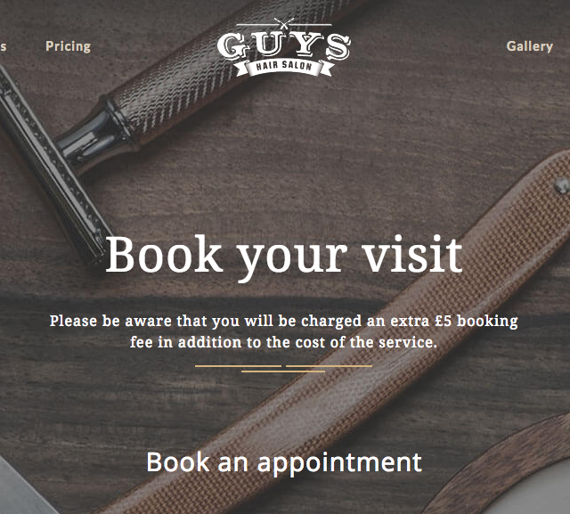Guys hair salon