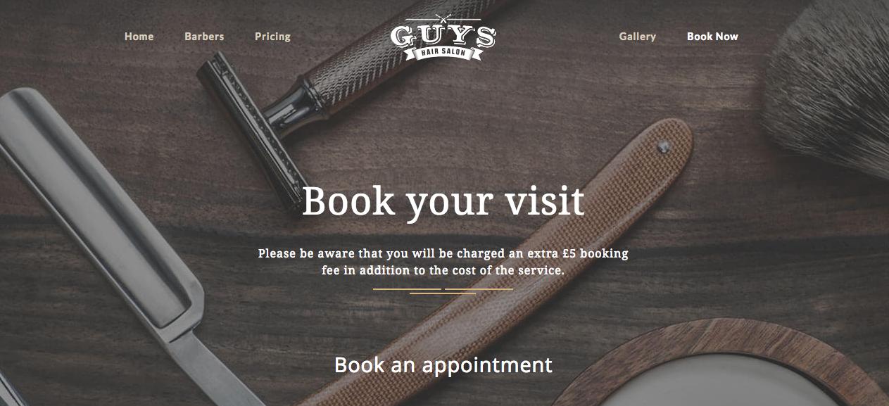 Guys hair salon