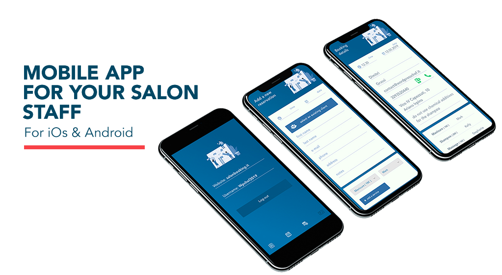 Salon Booking System mobile app