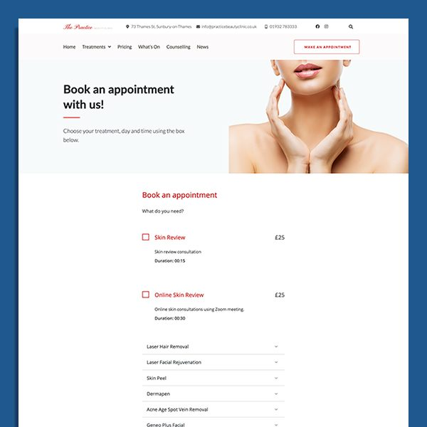 Salon and Hair Styling inspirational websites design