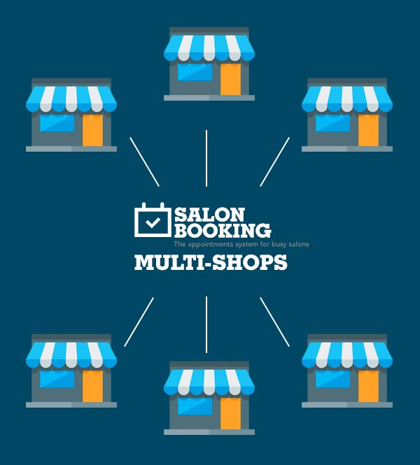 salon booking system multi shops